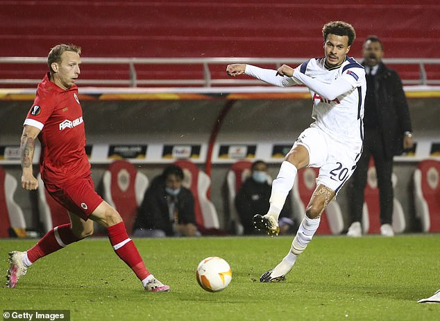 Dele Alli (right) went missing against Antwerp on Thursday before becoming addicted at halftime