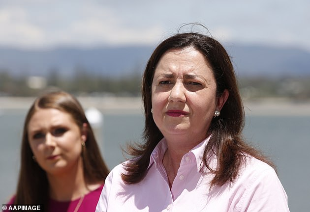 Annastacia Palaszczuk (right) previously said she hoped to ease the hard line put in place to contain the spread of COVID-19 from November 1