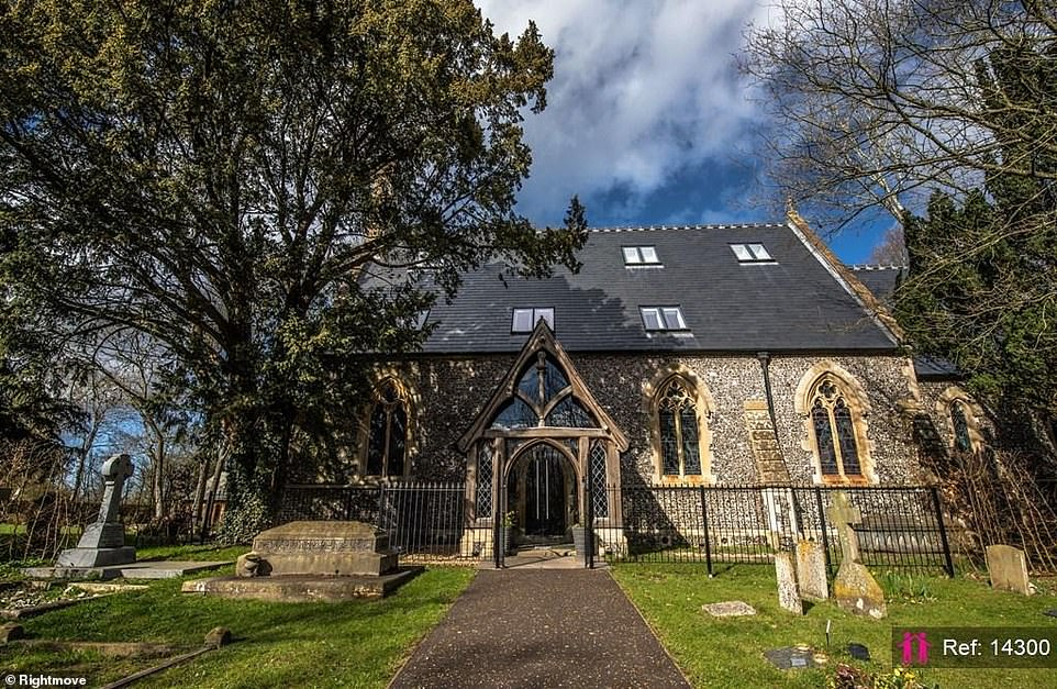 Holy Trinity Church, in Grazeley Berkshire, is being sold for £2.5million via estate agents I Am The Agent