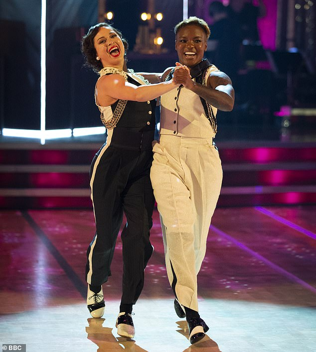 Exciting: The former professional also praised the same-sex pairing of Nicola Adams and Katya Jones and tipped them to go the distance thanks to their 'genius' choreography