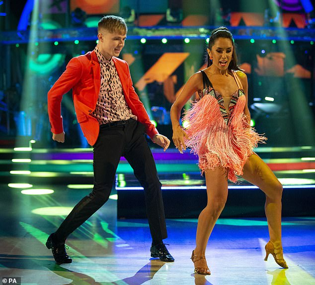 Sensational: Natalie told MailOnline that this year's celebrities are 'completely committed' to training for the show due to the COVID-19 pandemic (HRVY and Janette Manrara pictured)
