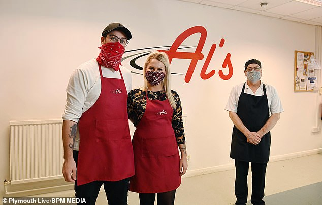 The charitable pair contacted Allan Smale, owner of Al's Kitchen in Plymouth, two weeks ago and then had the idea to use his venue to make the lunches