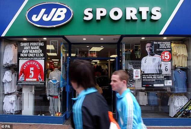Bust: JJB Sports had 180 stores around the country but went into administration in 2012