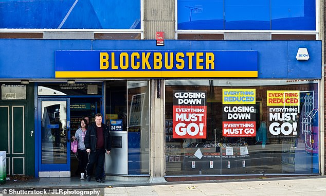 Blockbuster went bust in 2013 after the rise of digital media left it without a place in the market