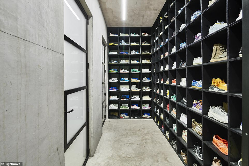 The current owner loves trainers, with this entire section of the house devoted to a shoe display