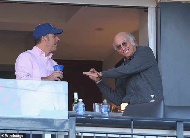 The Mets may not have the most successful team, but they do attract major celebrities, like longtime fan Jerry Seinfeld (left) and his former writing partner Larry David (right)