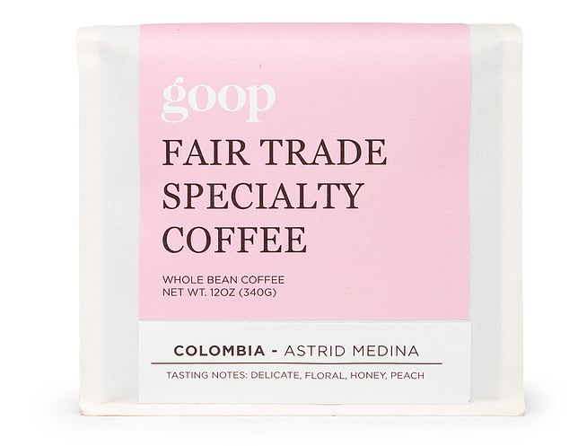 The best part of waking up:One hundred percent specialty-grade fair-trade Arabica coffee beans grown in Colombia by Asttid Medina, then roasted especially for goop at Common Room Roasters in California