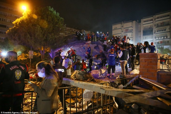According to Turkey's disaster agency, at least 244 aftershocks were recorded after the quake