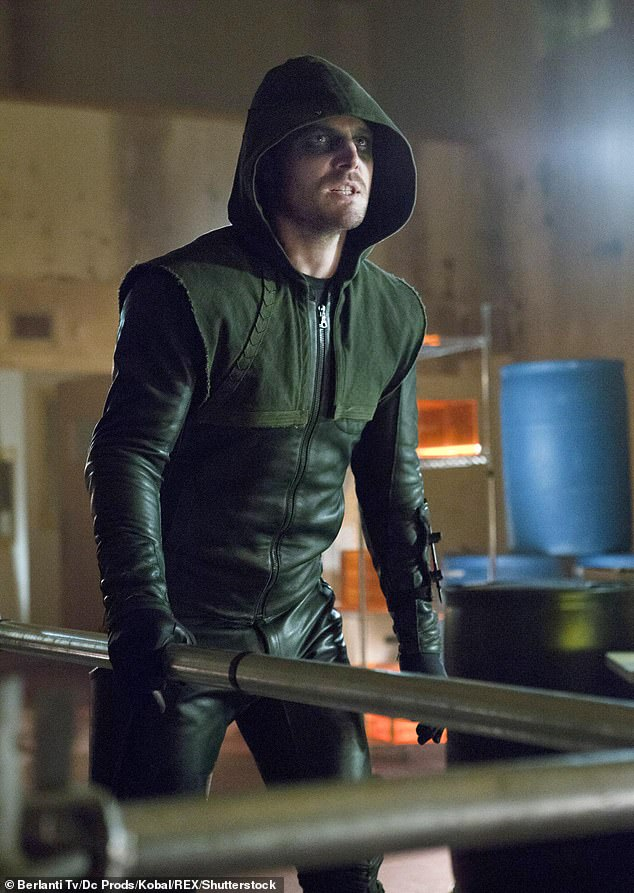 Superhero: Amell is best known for playing Oliver Queen/Green Arrow in The CW series Arrow (2012-2020) that just wrapped after eight seasons earlier this year