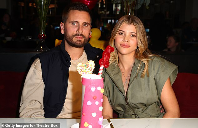 Calling it quits: The Cosmo cover girl began dating Disick in May of 2017, and they broke up earlier this year in May, making the split official over the summer (pictured in February, 2019)