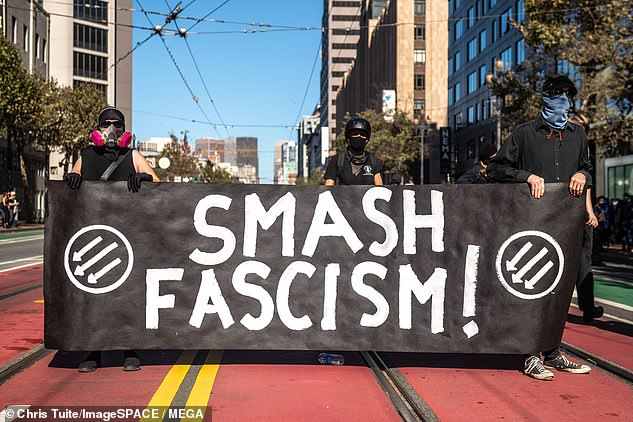 Demonstrators wearing face masks took to the streets of San Francisco on October 17