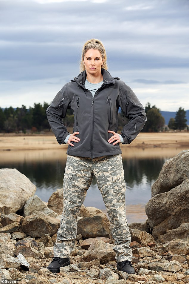 Powerful!The WAG was quickly identified as the fittest woman on the show