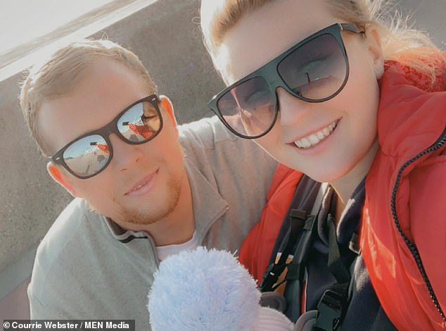 Johny had been on his way home from a day of Christmas shopping with his fiancée Courrie Webster and their children when they stopped at the petrol station earlier this week