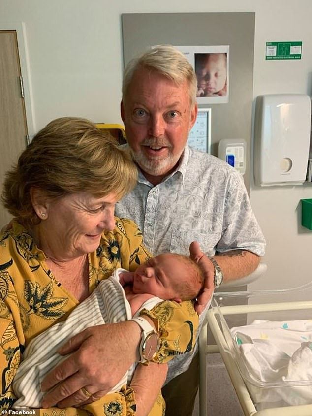 Daniel Morcombe's parents - Bruce and Denise - announced on the Daniel Morcombe Foundation Facebook the arrival of their granddaughter Elsie May (pictured)