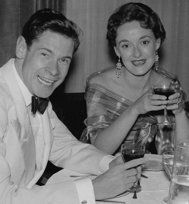 Stanley and Moira (left and right) on their honeymoon in London in 1952. They were married for 46 years