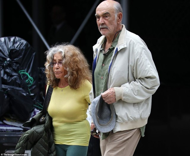 Tributes have been pouring in for the Oscar-winning actor who passed away in the Bahamas and leaves behind his wife Micheline (pictured in New York four years ago)