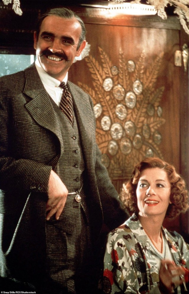 1974: Connery and Vanessa Redgrave starring in the film Murder on the Orient Express, based on an Agatha Christie novel
