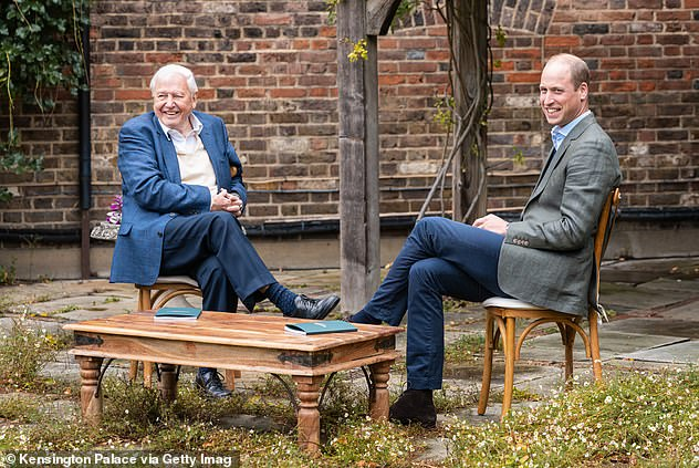Prince William has launched most prestigious global environment prize in history, as the five challenges at heart of The Earthshot Prize are unveiled. Pictured, with Sir David Attenborough