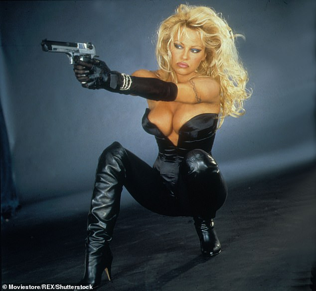 Iconic: Anderson played heroine Barb Wire in the panned 1996 film