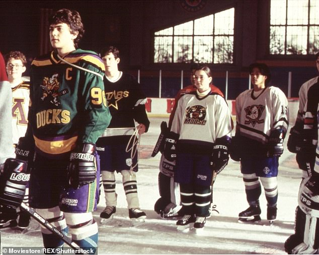 First big role: Joshua portrayed the iconic character of Charlie Conway first in 1992's The Mighty Ducks, when he was 14 years old; seen here (left) in 1996's D3: The Mighty Ducks