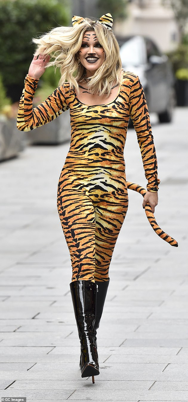 Look at you! On Friday, alongside her fellow Heart FM presenters, Ashley got into the swing of Halloween as she dressed up as a tiger for her day at work