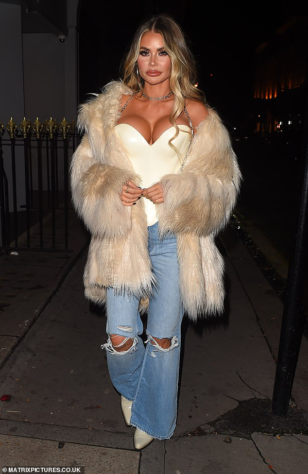 Woah!Chloe Sims ensured all eyes were on her as she put on an eye-popping display while on a night out at MNKY House in Mayfair with sisters Demi and Frankie on Saturday