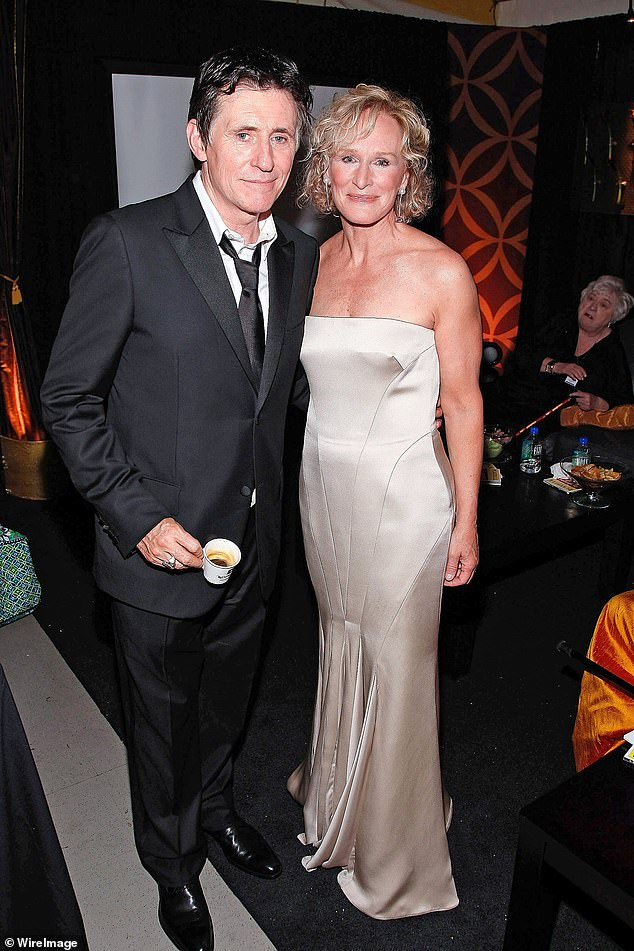 Actor Gabriel Byrne would learn about fame from Richard Burton. (Gabriel pictured with Glenn Close pose backstage during the 62nd Annual Tony Awards at Radio City Music Hall on June 15, 2008 in New York City.