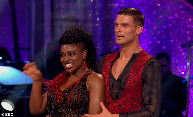Dancing: Judge Motsi Mabuse kicked off the feedback saying: 'First of all, thank you for bringing in a bit of Halloween for today's mood, love that!'