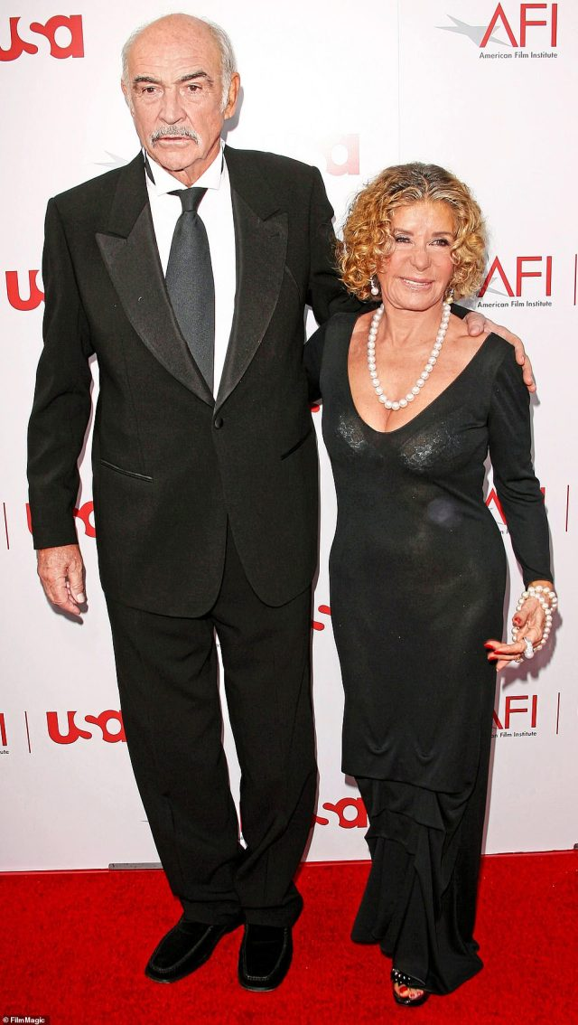 Sir Sean Connery and wife Micheline at 34th Annual AFI Lifetime Achievement Award: A Tribute to Sean Connery