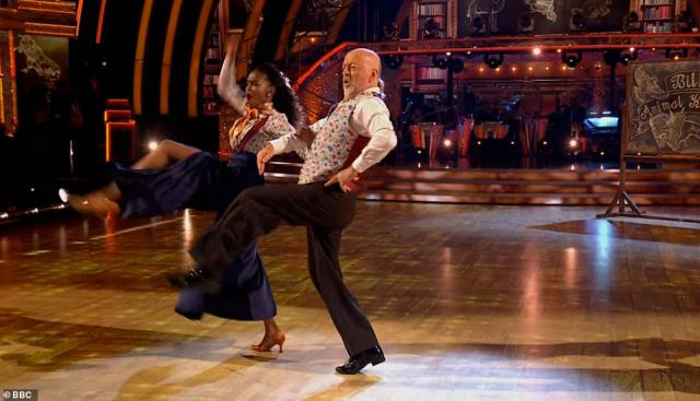 Move it! Bill Bailey and OtiMabuse wowed with their Quickstep to Talk To The Animals by Bobby Darin