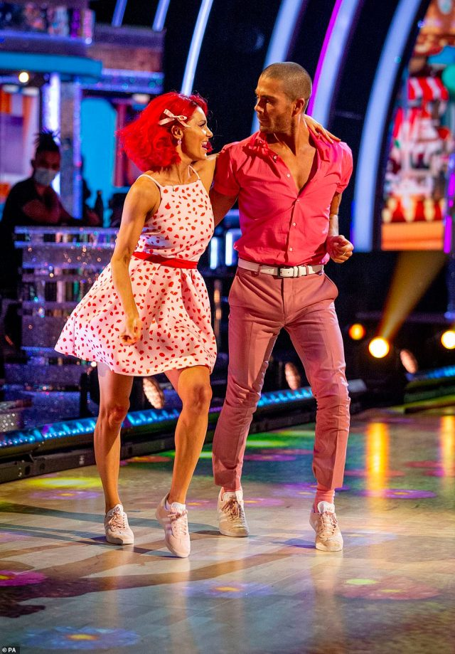 Work it! The dancing duo were praised for how hard they had worked and improved over the past week, with an impresed Motsi telling Max he's 'dangerous'