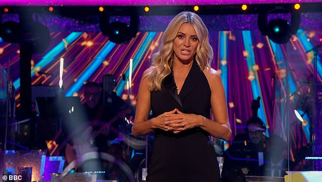 Stunning: Tess never fails to impress with her wardrobe choices on the show