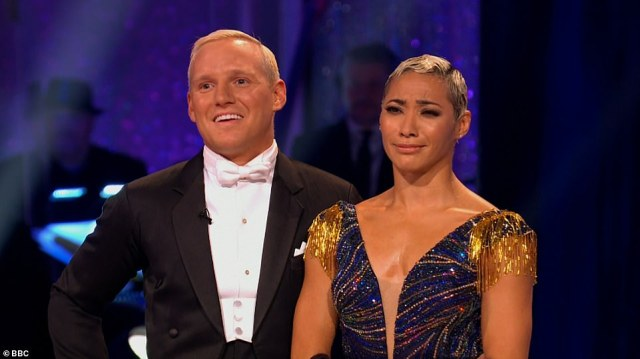 Interesting:Jamie Laing and Karen Hauer received a mixed bag of comments for their American Smooth to Night and Day by Frank Sinatra, with the duo scoring 17 overall