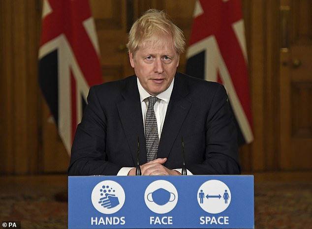Johnson revealed in a televised statement that England would go into lockdown on Thursday. The measure is expected to be in place until December 2