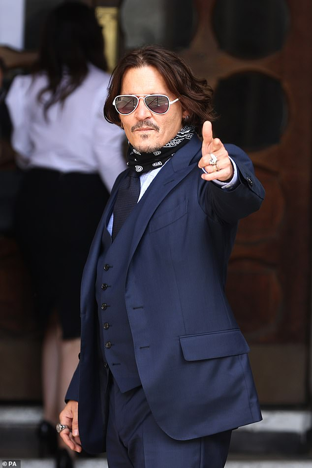 Is Johnny Depp, pictured, on a mission to destroy his image with plans for his next movie?