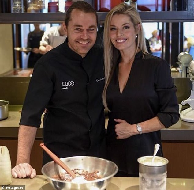 Celebrity chef Shannon Bennett with his former partner Madeleine West.  Bennett has hit out at what he called 'dictatorial' heritage bureaucrats who he claims are stifling his redevelopment of a historic mansion near Melbourne