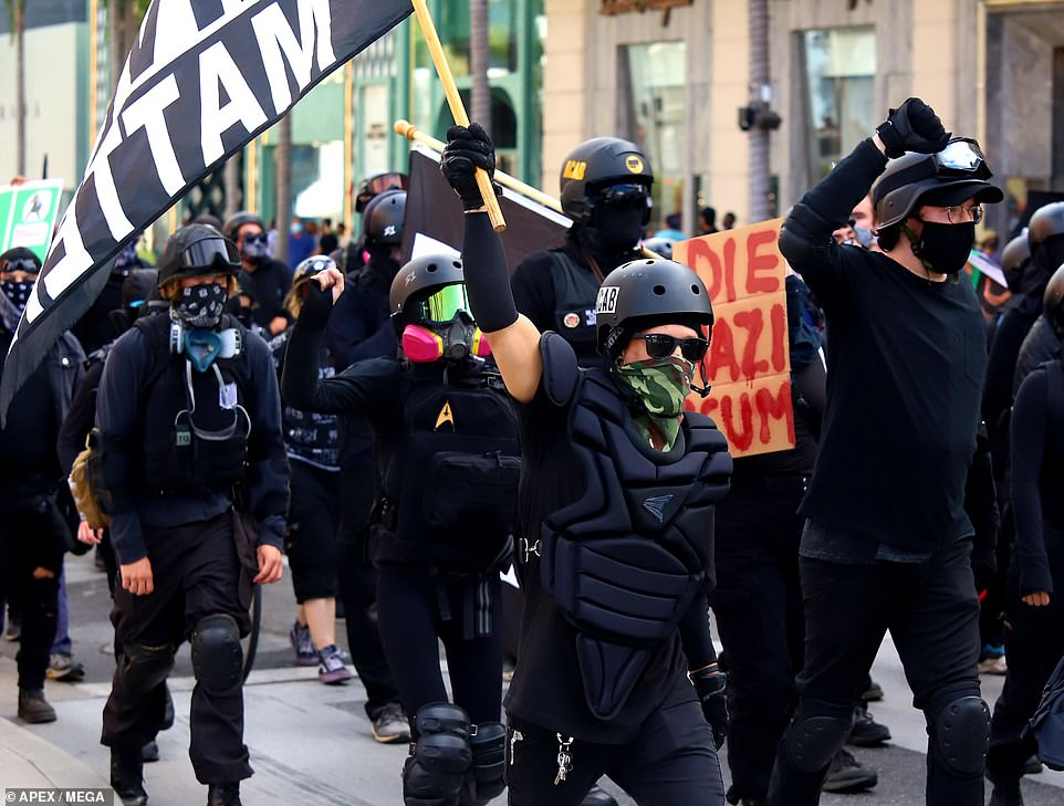 Antifa, short for 'anti-fascist', is a left-wing movement that seeks to confront those whom it deems racist or authoritarian. Its supporters are known for dressing in all-black, and being unabashed to use physical violence