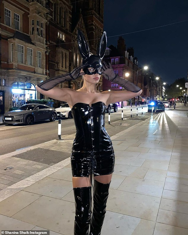 Meet LOLA! The Australian model slipped her curves into a stunning bondage-inspired outfit