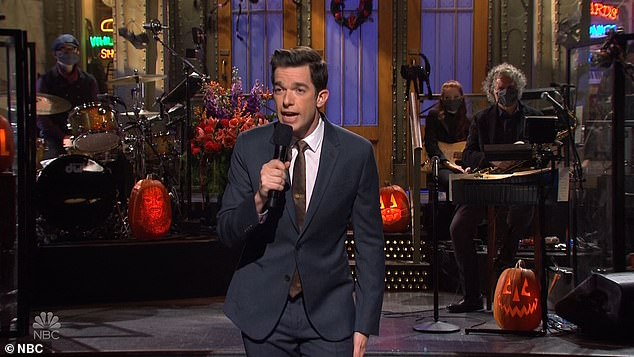 Laugh riot: The episode was hosted by John Mulaney and featured The Strokes as the musical guest. '¿I am a comedian, or as I like to call us, the last responders,¿ Mulaney joked
