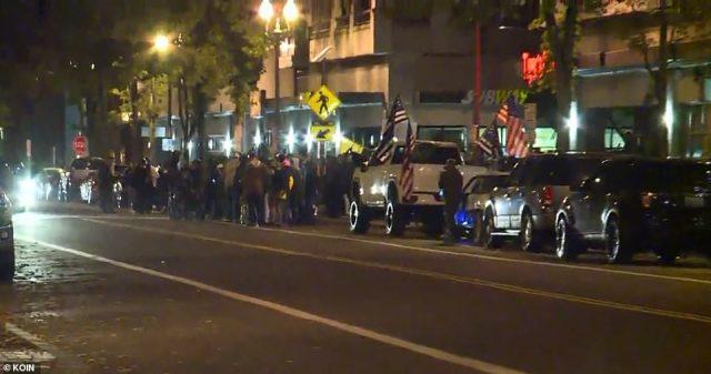 PortlandPolice declared a riot in Northeast Portland after people smashed windows tobusinesses