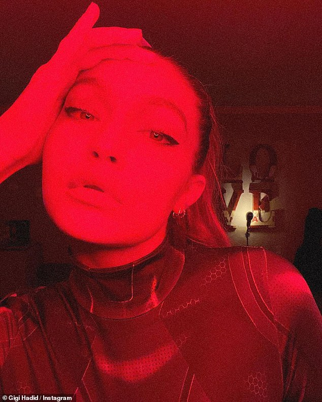 Infra-red: She shared another close-up shot with red lighting