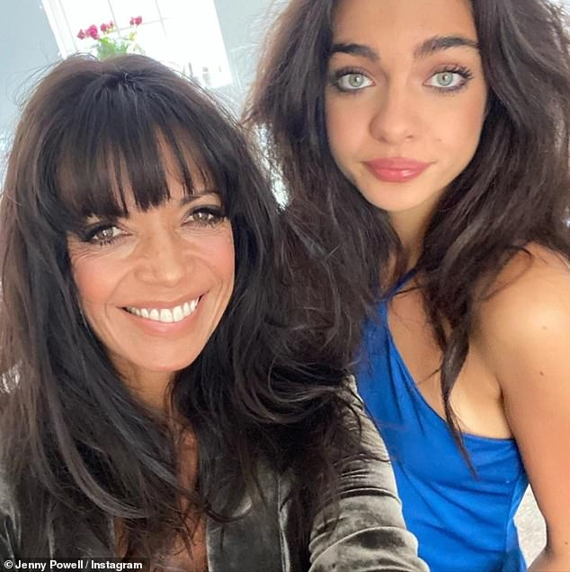 Family:Jenny Powell, 52, has admitted she is often mistaken for being her teenage daughter's sister, despite their 33-year age difference