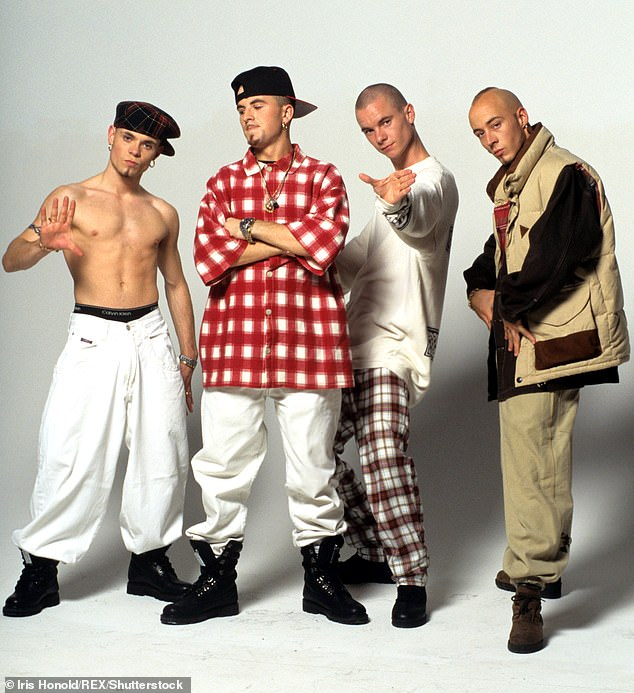 East 17 in the 1990s: (left to right) Brian Harvey, Terry Coldwell, Tony Mortimer and John Hendy