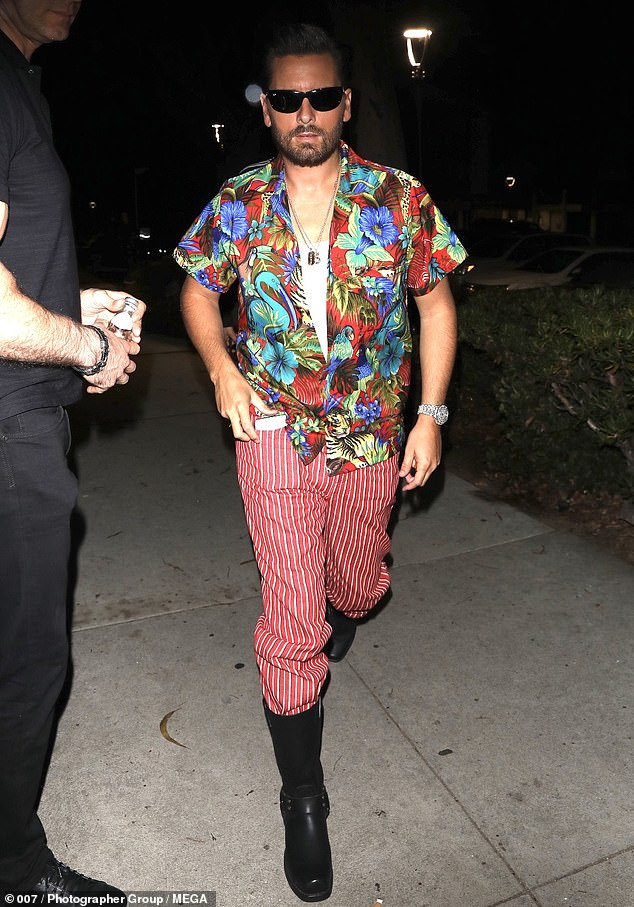 Party time! Scott Disick, 37, and Amelia Hamlin, 19, were seen arriving at a Halloween bash together on Saturday evening