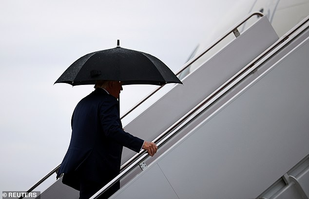 Trump will spend Sunday in Michigan , Iowa , North Carolina , Georgia , and Florida . He'll sleep at his golf club in Doral before Monday's swing to North Carolina, Pennsylvania , Michigan and Wisconsin
