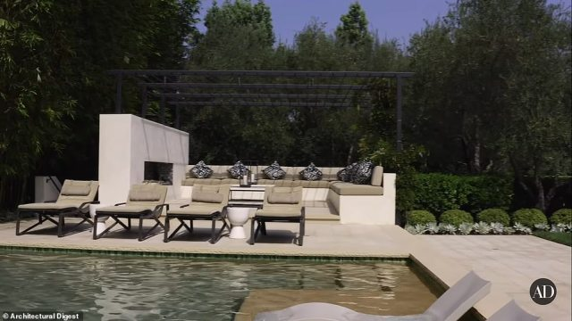 The home includes plenty of outdoor seating and entertaining spaces to enjoy the California weather