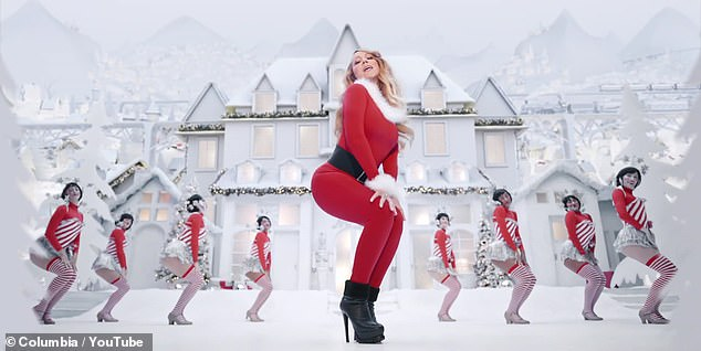 Jingle all the way:Just last year, Mariah celebrated her 1994 hit reaching the top of the charts 25 years after its release with an updated music video