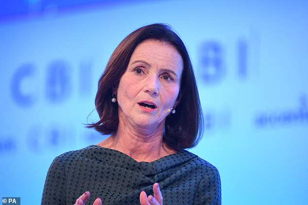 Warning:Dame Carolyn Fairbairn urged the Government to step up mass testing and provide tailored support to beleaguered businesses