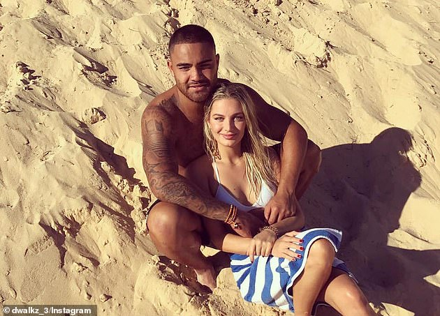 Dylan Walker has plead guilty to assaulting a man outside a Sydney pizza shop in 2020  (pictured with Alexandra Ivkovic)
