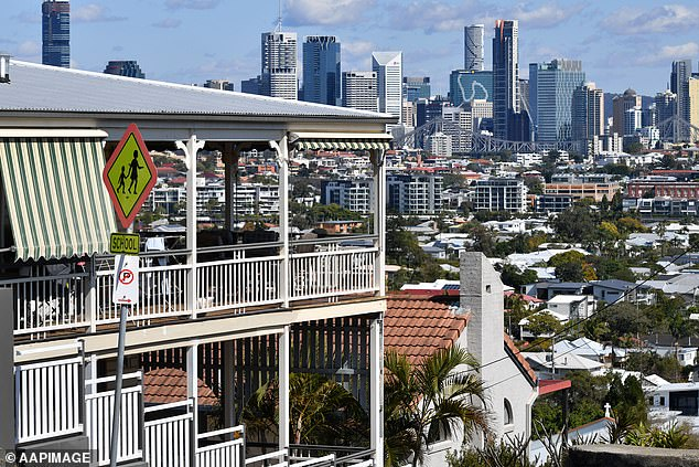 Hamilton, New Farm, Teneriffe, Bulimba (pictured) and Hawthorne locals are desperately trying to ban 'flight short-cuts' over suburban areas to keep noise at bay
